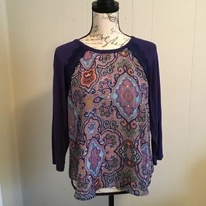 Paisley High Low Top